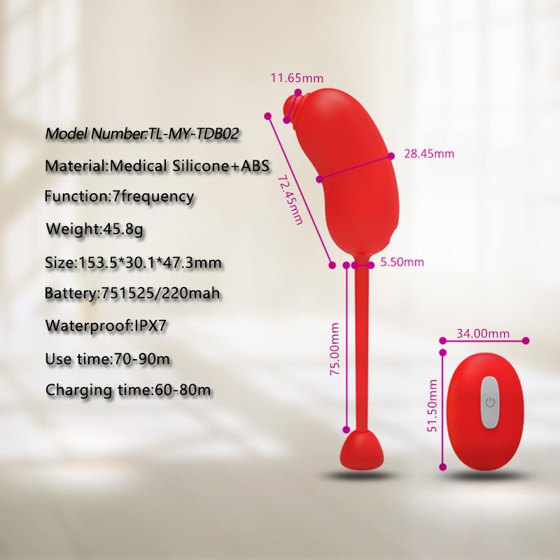 7-Frequency Vibration Sex Novelites Jump Egg female adult toy silicone vagina lipstick Wireless love egg